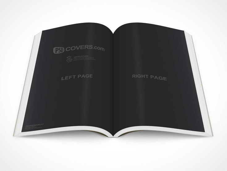 PSD Mockup Graphic Novel Topview Centerfold