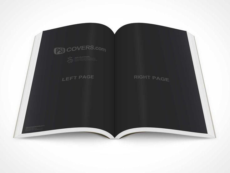 PSD Mockup Graphic Novel Topview Centerfold