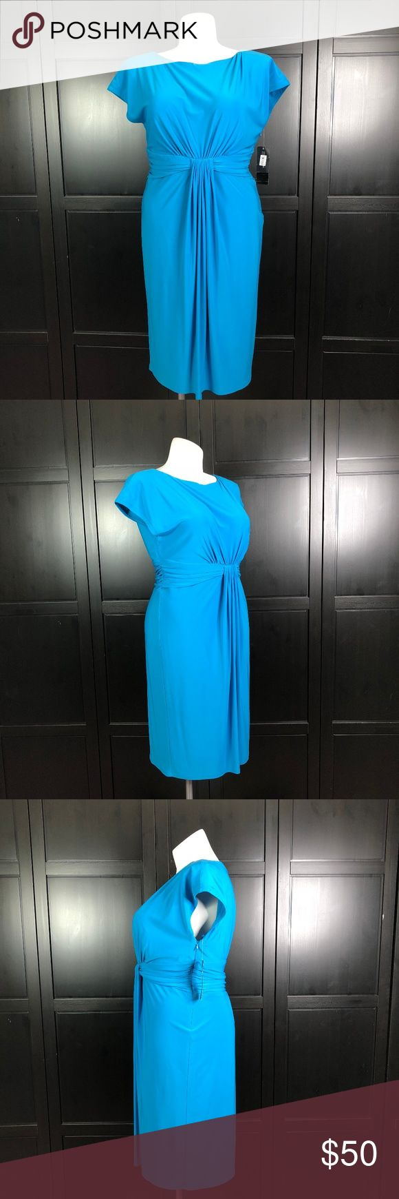 Jones New York Blue Dress Size 16 Brand: Jones New York Color: Blue Size: 16 Material: Polyester Made in China Sleeve Length: None Shoulder Length: 18in Total Length: 40in Bust: 39in Jones New York Dresses