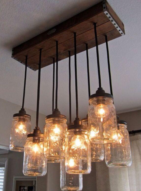 Buena lampara casera con fracos