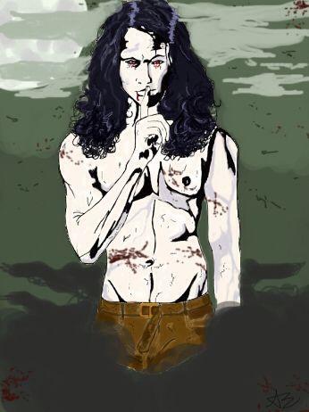 Vampire illustration ❤️ digital drawing by @burningrose_art instagram