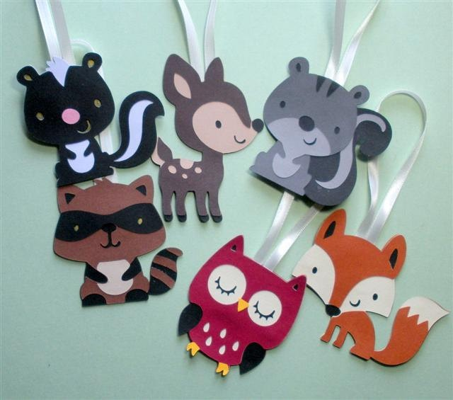 105 best images about woodland themed baby shower on for Animal party decoration