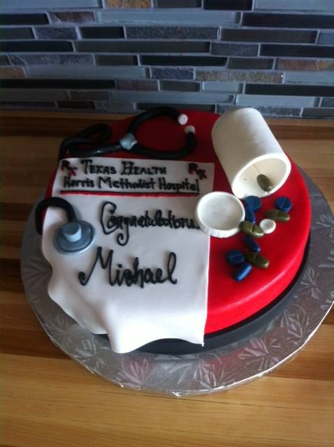 Texas Tech Medical School Graduation Cake