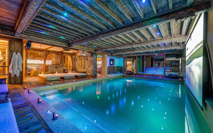 Indoor pool at Chalet Marco Polo in Val d'Isere  #valdisere #luxuryskichalet #snow #skiing