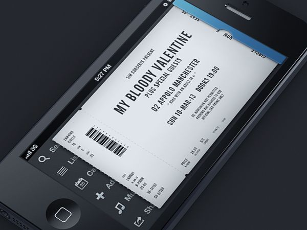 Mobile Ticket App by Piotr Kwiatkowski, via Behance
