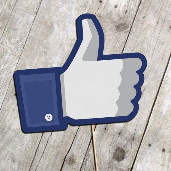 DIY Photo Booth Printable Prop - Facebook Thumbs Up Sign