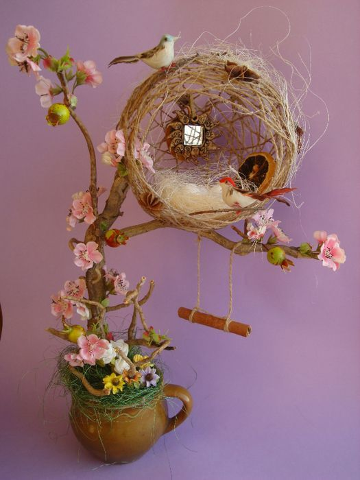 Cute idea for bird house! :):