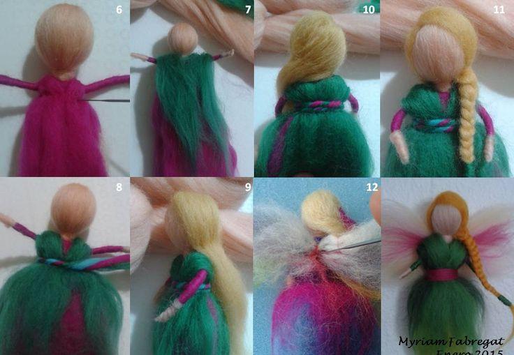 Cómo hacer un hada de lana cardada (2)