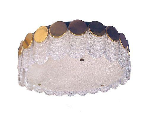 kaiser lamp ..sehr seltene kaiser leuchte, 70er jahre, sehr guter zustand!   rare great gatsby style. iceglass