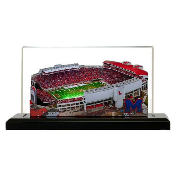 """Ole Miss Rebels 19"""" x 9"""" Light Up Stadium with Display Case - $289.99"""