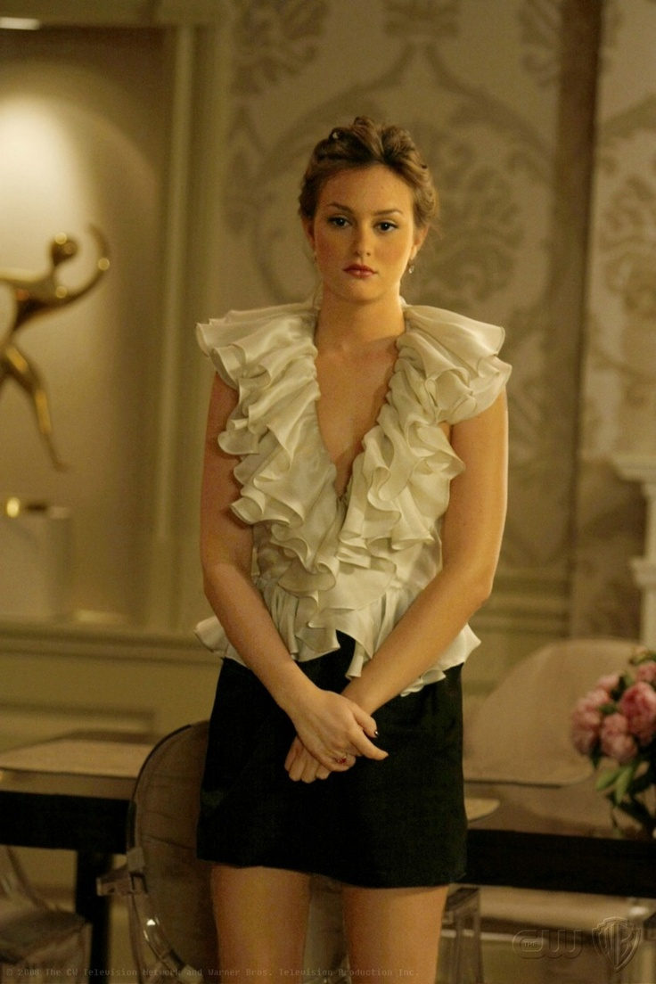 Blair Waldorf Style Gorgeous Blouse But A Little Too Low Cut And The Skirt Is Definitely Too