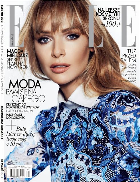 Magazines - The Charmer Pages : Magdalena Mielcarz by Mateusz Stankiewicz for Elle Poland January 2014