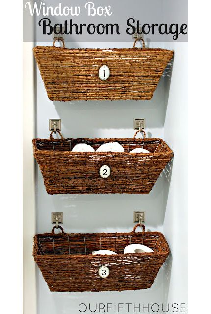 15 Bathroom Storage Solutions And Organization Tips 4 Gardens Toilets And Hanging Baskets