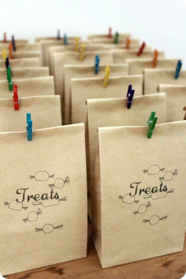Treat bags but topped with doilys