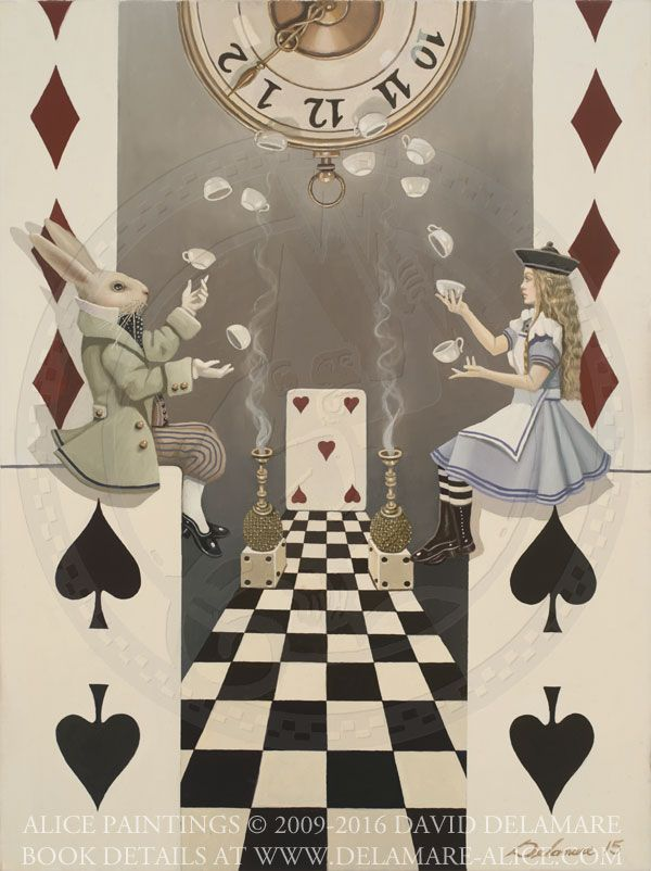 "House of Cards No. 4 - ""Alice's Adventures in Wonderland"" by David Delamare."