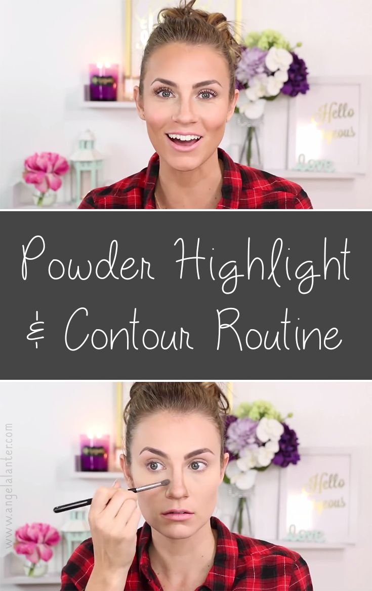 How To: Highlight & Contour With Powder  Anastasia Beverly Hills Contour  Kit Tutorial &