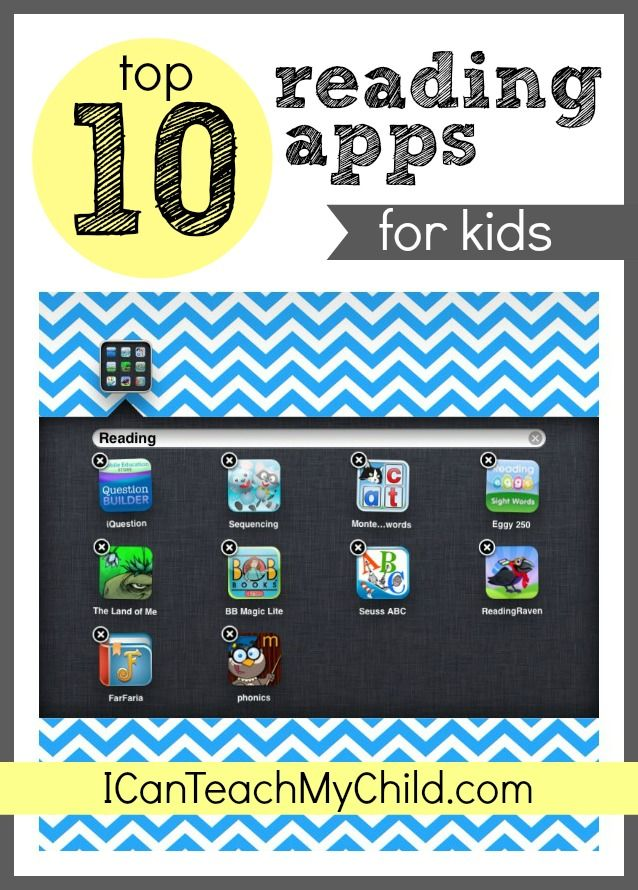 Top 10 Reading Apps for Kids. Awesome! And if you're looking for math apps, of course check out The Digits: Fraction Blast!