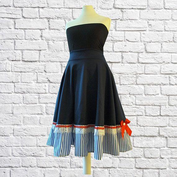 S M L Handmade Swing Skirt Etsy Shop Black Cherrys Store