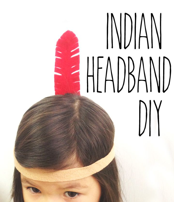 Easy Indian Headband Craft - Army Wife to Suburban Life