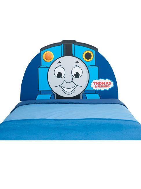 Thomas the Tank Engine Thomas and Friends Light-Up Headboard  100% official merchandise. Fun and functional this light up headboard adding a glow to every boys bedroom. Fits all standard single beds.  http://www.comparestoreprices.co.uk/headboards/thomas-the-tank-engine-thomas-and-friends-light-up-headboard.asp