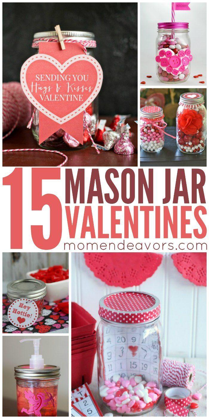 15 Diy Mason Jar Valentine S Crafts Mason Jar Ideas Pinterest