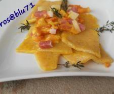 Ricetta Rombi di pasta Fresca alle3 Farine con Pancetta pubblicata da rosablu71 - Questa ricetta è nella categoria Primi piatti