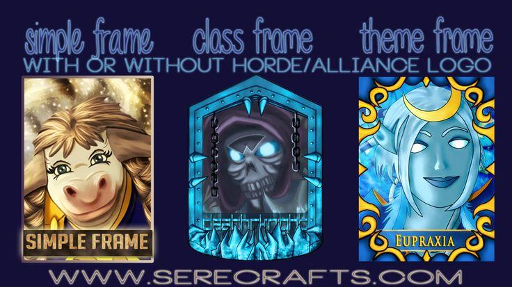 Get your badge (digital design or physical badge)! Different frames and more info at: serecrafts.com  #world of warcraft #warcraft art #warcraft #creative #design