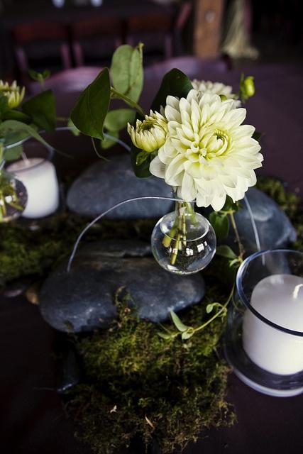 Blue Bouquet Kansas City Tablescapes Fl Design Vases Wedding Flowers