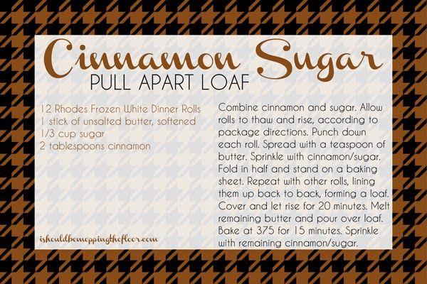 Pull apart, Cinnamon and Sugar on Pinterest
