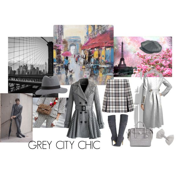 Grey City Chic by giovanina-001 on Polyvore featuring Burberry, Chicwish, Carven, Michael Antonio, Michael Kors and Accessorize