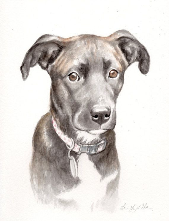"""8.5"""" x 11"""" Watercolor Portrait Painting by Lisa"""