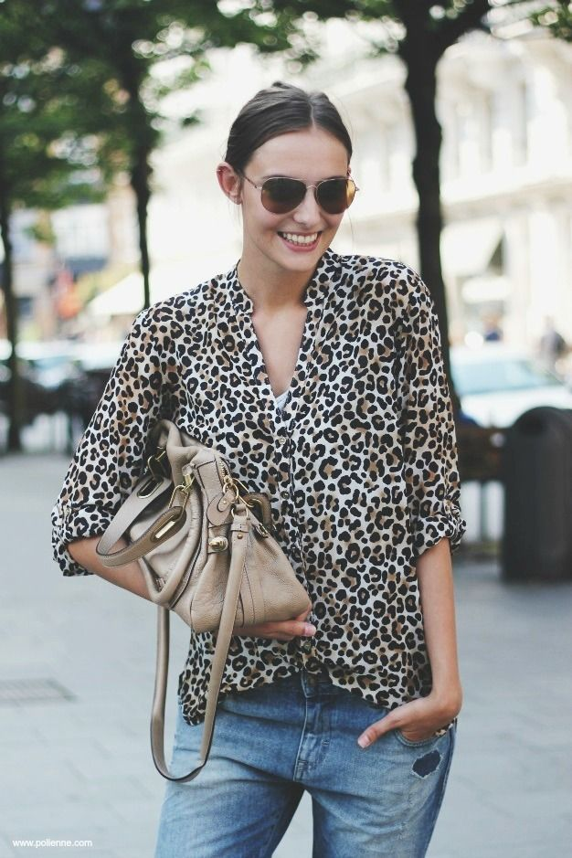 leopard! I must have this shirt! This outfit! Want. Want. Want. So obsessed with leopard print.