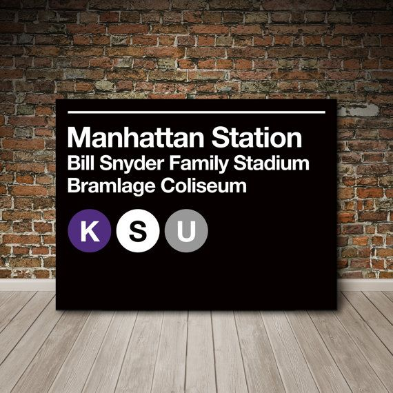 Kansas State University Subway Sign Canvas Wall Art by SussiesHome