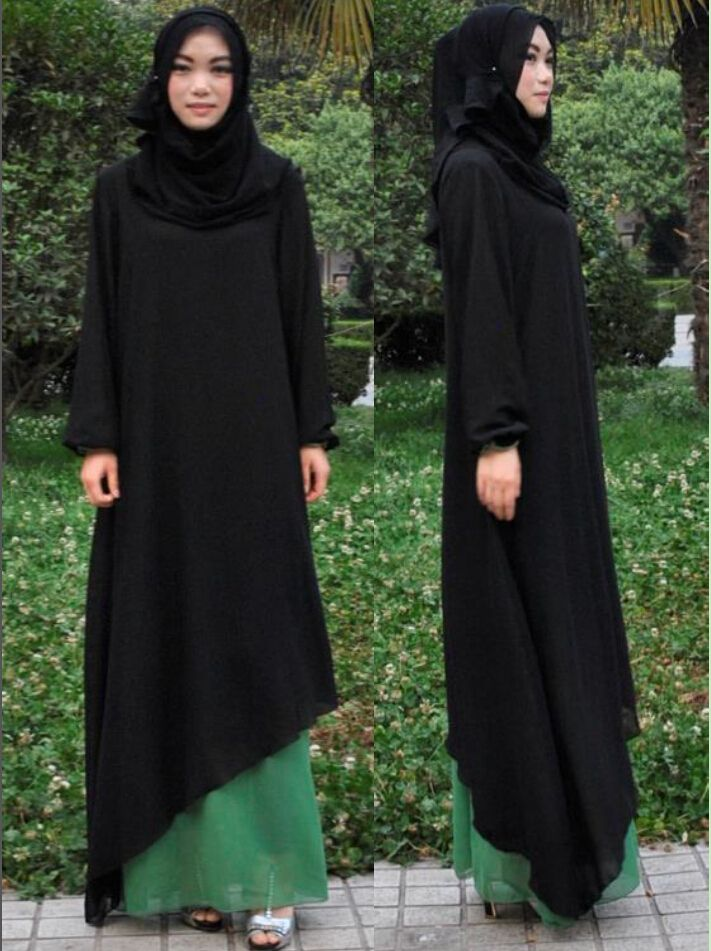 Cheap clothing sleepwear, Buy Quality clothing jacket directly from China islamic kaftans Suppliers: Triangle design design, islamic clothing for women soft thin two layer composite silk abaya dress,Islamic Abaya, jilbab $46.60