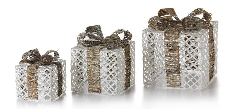 "8"",10"",12"" Rattan Giftbox-S/3"