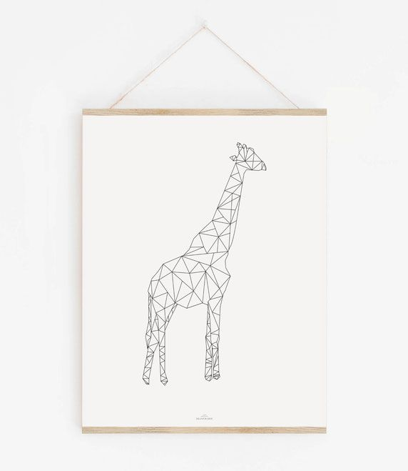 Premium-Poster Giraffe Skizze