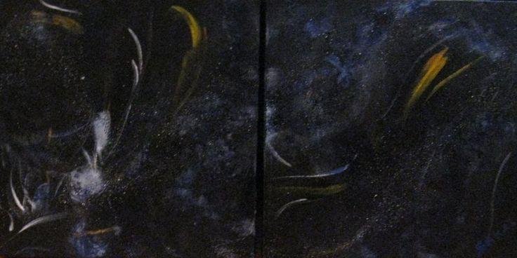 """Stacy Sakai artwork - """"Infinity Blue"""" on www.reddotart360.com"""