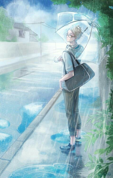 queen of the court tsukishima x reader editing  rain
