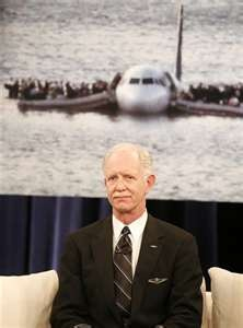 Respect !for his incredible landing on the Hudson River.Captain Sully Sullenberger can fly me anywhere! )(