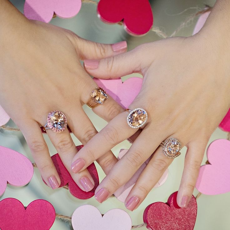 We LOVE Morganite! Did you know that Morganite gets it's brilliant peachy-pink, color from the presence of manganese in the stone? It's the perfect time to get your Valentine a beautiful gift with up to 50% savings on gemstones in gold!