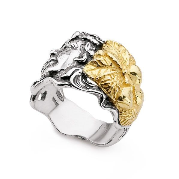 Anello Gerardo Sacco, mese di Ottobre. Un gioiello ispirato all'autunno in oro bianco e giallo firmato dal maestro orafo calabrese.  #autunno #gerardosacco #ring #ottobre #mesi #autumn #months #october #anelli #gioielli #jewels #madeinitaly #fattoamano