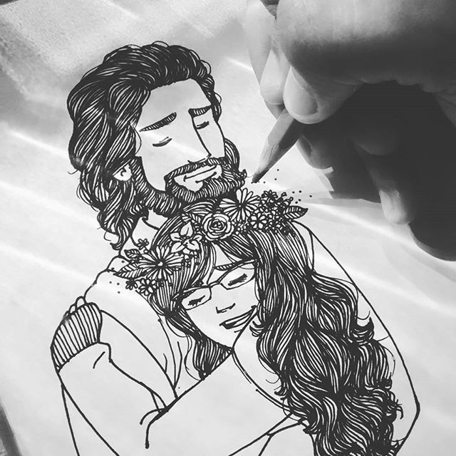 """""""Aquieta minh'alma, Faz meu coração ouvir tua voz Me chama pra perto, Só assim eu não me sinto só (ZOE) . . (releitura da arte de @sheyla_art)"""
