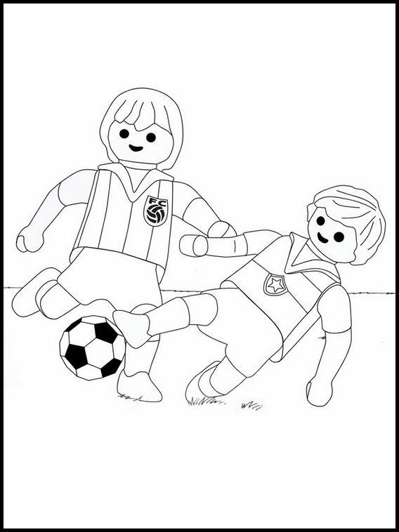 Dibujos para imprimir y colorear para niños Super 4 Playmobil 11