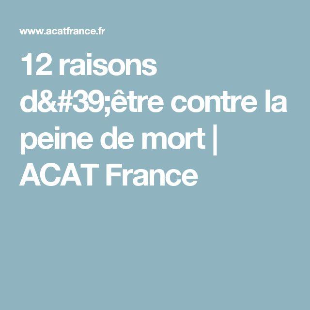 12 raisons d'être contre la peine de mort | ACAT France