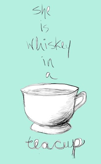 """Quote:  """"She is whiskey in a teacup."""" ~ the person that said this was referring to an Irish girl, guaranteed."""