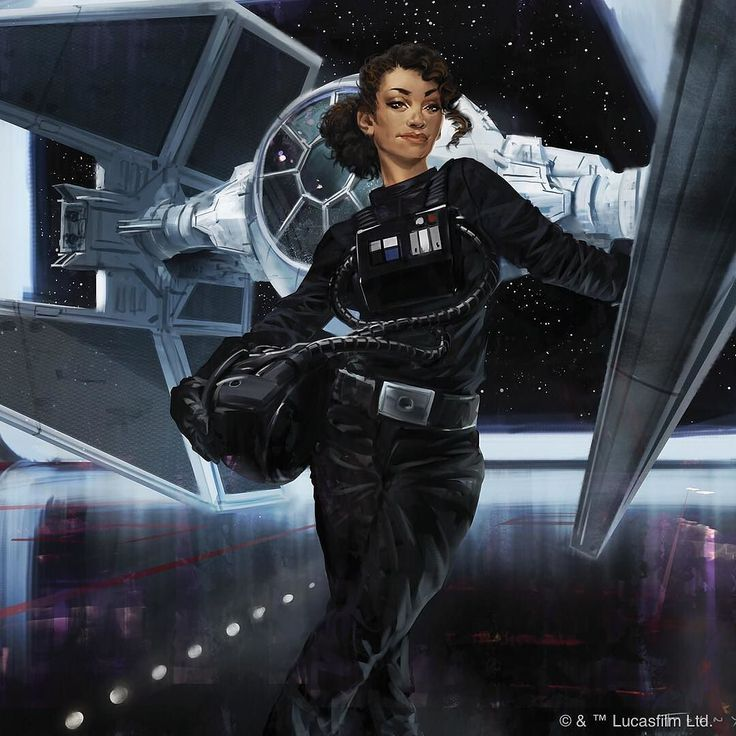 Second #starwars spoiler for today: art from an upcoming Star Wars: Armada expansion of a character from Claudia Grey's novel Lost Stars. Say hello to Ciena Ree! by fantasyflightgames