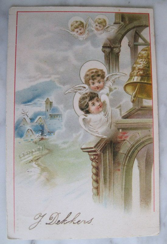 SALE  Antique Angel Postcard. Little Angels. 1903 by grandma62