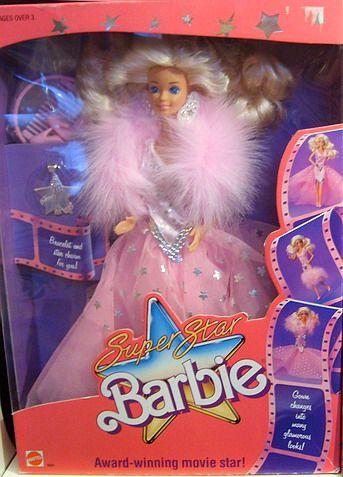 My first Barbie...Barbie Playline - Les Pink Boxes des années 80 I just recalled the Christmas