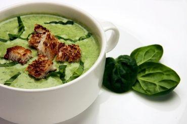 Receita de Sopa Creme de Espinafre