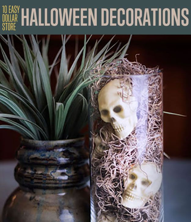 10 easy dollar store halloween decorations you should try here are some great party ideas - Easy Cheap Halloween Decorations